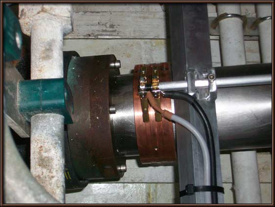 The finished article, a gadsolutions slip ring installed on a propeller shaft